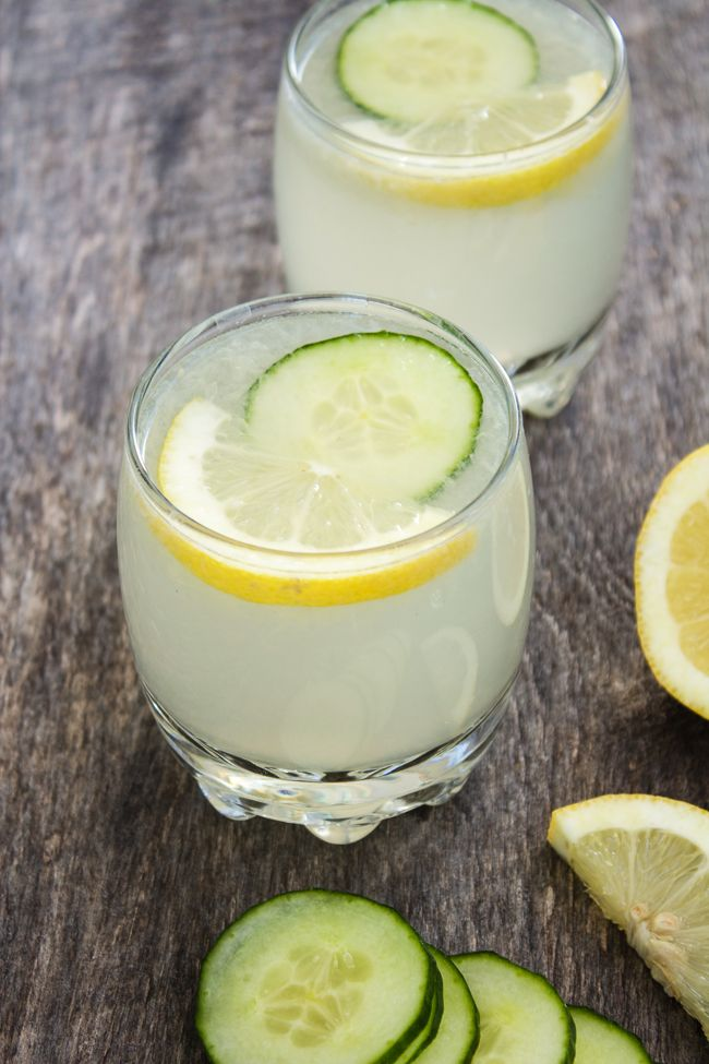 Toast the weekend with this refreshing cucumber lemonade.