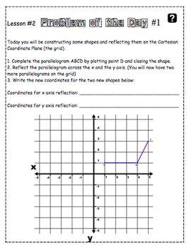 Location & Movement, Translations, Reflections, Rotations Geometry Unit NO PREP