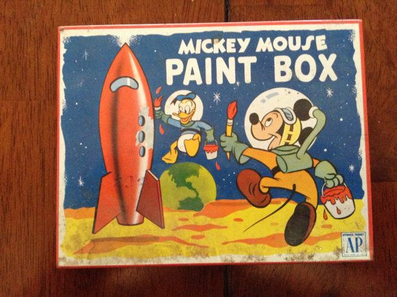 Vintage Mickey Mouse Paint Set  Highly by PompeyCollectibles, $40.00