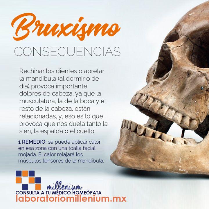 Bruxismo es el término con el que se conoce el rechinar de dientes ya sea durante el día o mientras se duerme.