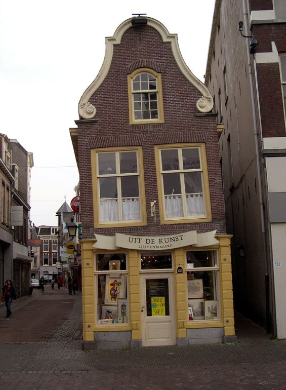 Leaning, Utrecht, Netherlands now a not very good cheap jewellery store sadly
