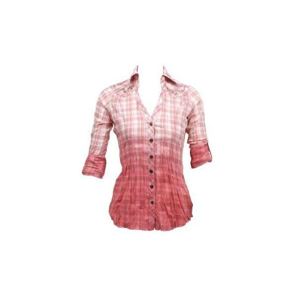 Set Adrift Fashion for Women - Vanity ($20) ❤ liked on Polyvore featuring tops, shirts, blusas, plaid, tartan plaid shirt, red plaid shirt, red tartan shirt, plaid top and tartan shirts