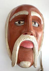 Máscara Viejito -Mexico prehispanico