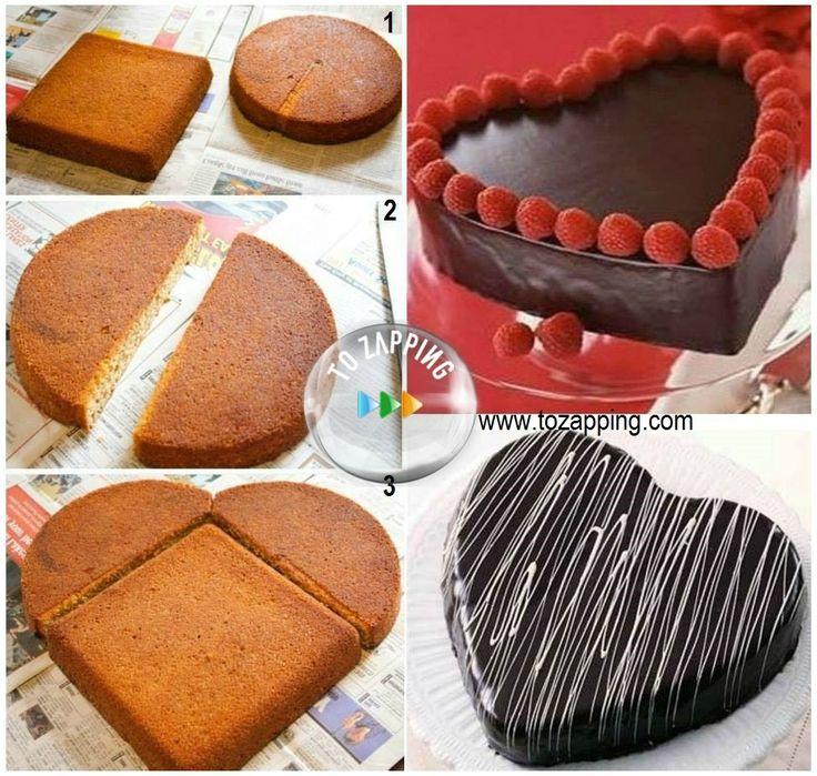 forma facil de hacer un pastel en forma de corazon