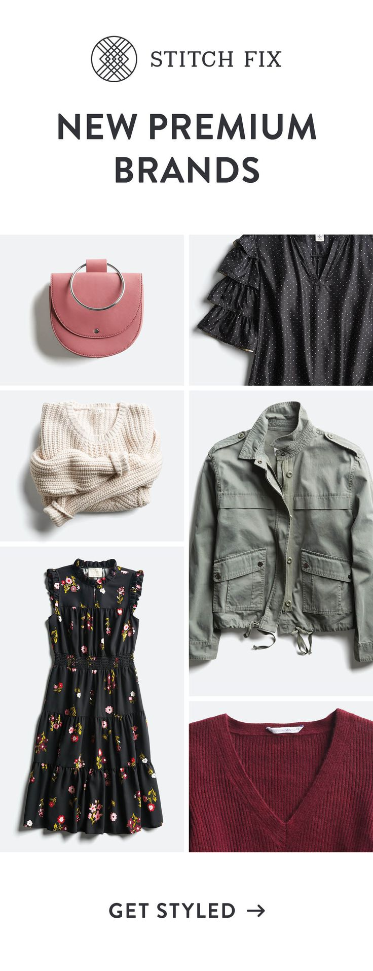 Learn how to mix premium brands with everyday essentials & seasonal hits for unforgettable style. You'll get a handpicked selection of pieces from a professionally trained Stitch Fix Stylist, as well as expert advice. Free shipping & returns—every time.