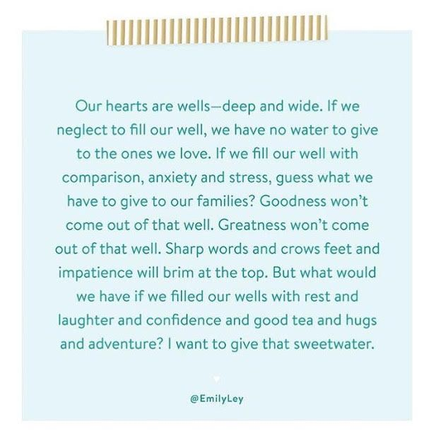 Quote from Emily Ley of The Simplified Planner. Wishing you a weekend full of rest, laughter, confidence, good tea, hugs, and adventure! #gracenotperfection