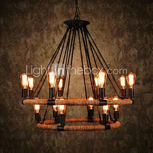 40 Chandelier ,  Traditional/Classic Rustic/Lodge Vintage Retro Country Painting Feature for Candle Style MetalLiving Room Bedroom Dining 2017 - $329.59