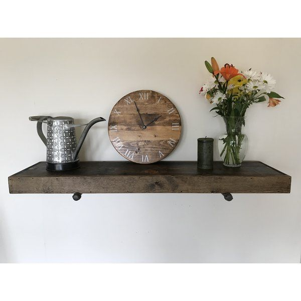 This Whitestone Rustic Industrial Wall Shelf Will Make A Statement