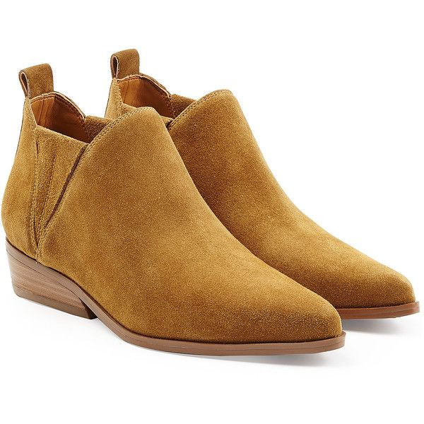 Kendall + Kylie Suede Ankle Boots (1 360 SEK) ❤ liked on Polyvore featuring
