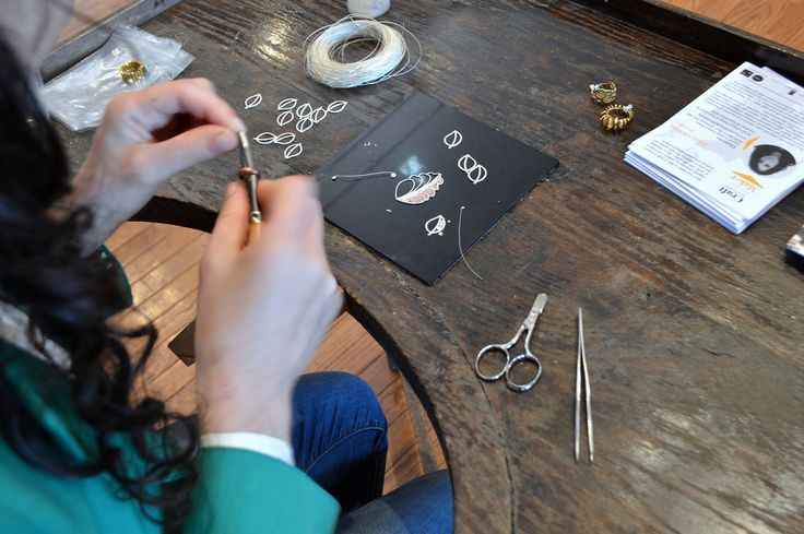 Meet Your Maker - Filipa Oliveira demonstrates filigree