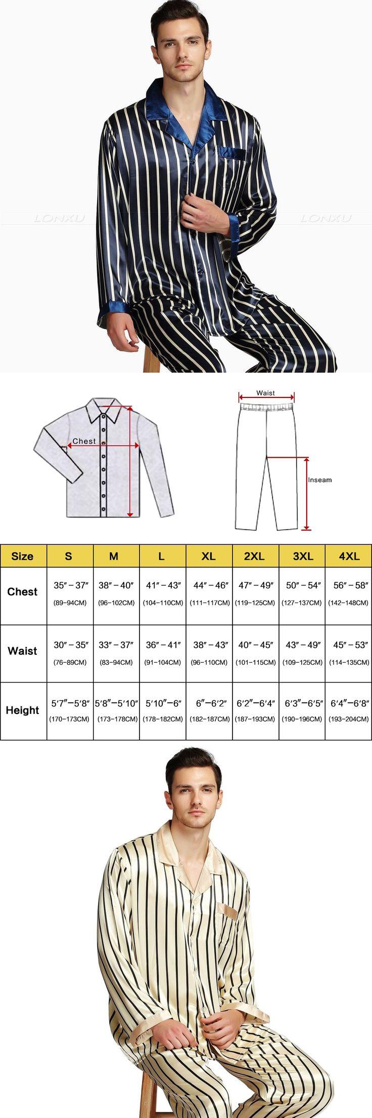 Mens Silk Satin Pajamas Set  Pajama Pyjamas PJS Set  Sleepwear  Loungewear  S,M,L,XL,2XL ,3XL Plus__Fits All Seasons
