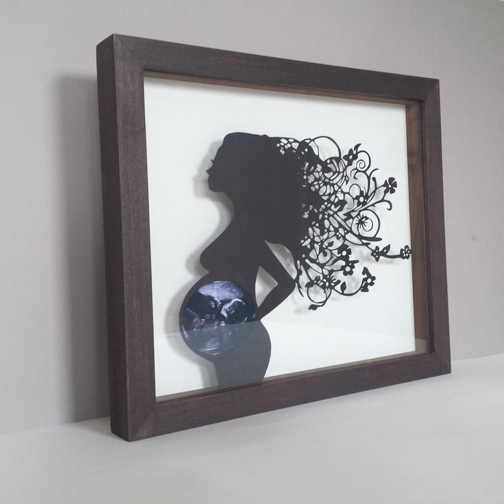 A 'moo'nique Baby Ultrasound Scan Papercut Frame. Treat ...