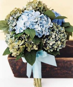 blue wedding flowers pictures
