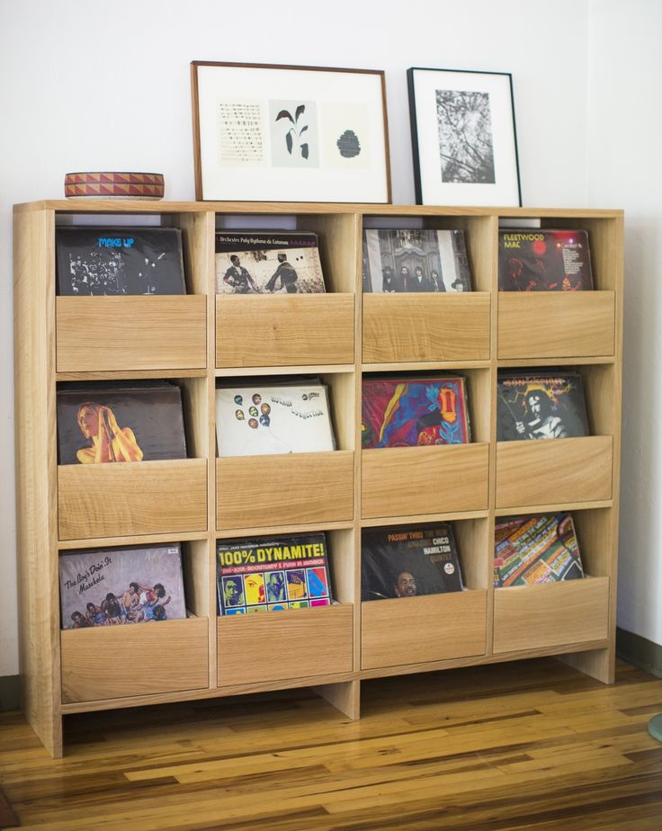This vinyl cabinet by Killscrow keeps everything in place while still displaying your favorite records.