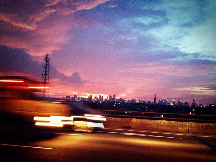 Beautiful twilight ❤️❤️ [Jakarta, 27 December 2013]
