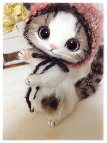 gallery - creamyのふわふわ羊毛フェルト猫ちゃん