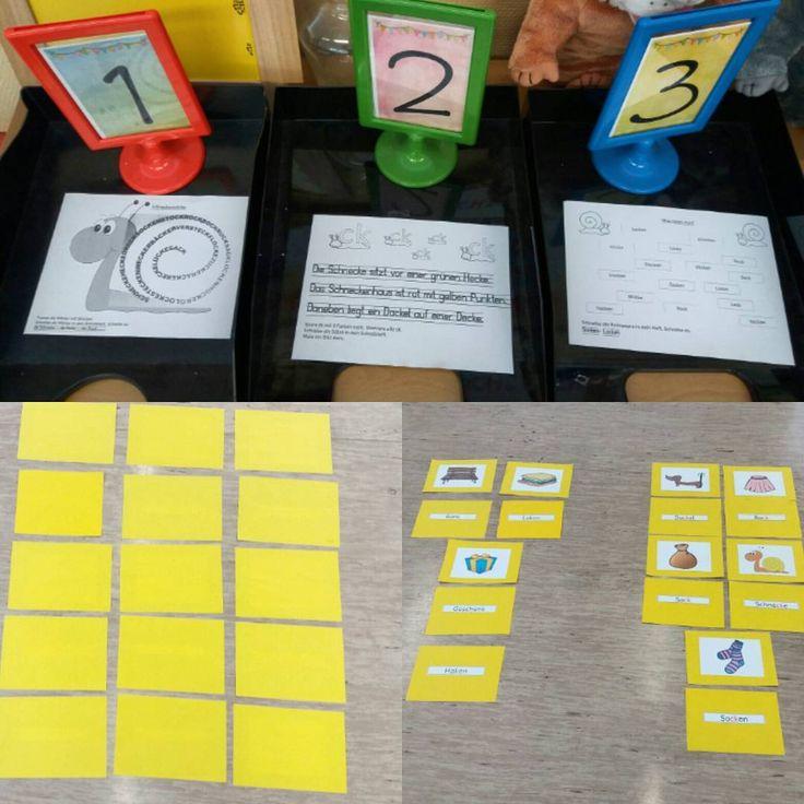"""Zur Einführung des """"ck"""" haben wir ein ganz simples Memory gespielt: Wort- Bild-Zuordnung. Den Kindern ist dann aufgefallen, dass alles gleich klingt aber anders geschrieben wird. Wir haben das genau untersucht und die Karten sortiert in """"ck"""" und """"k"""". Ein kleines Spiel hat noch einmal Bewegung reingebracht: ich habe Wörter genannt und die Kinder mussten hören ob das Wort ein """"ck"""" hat (->hinstellen) oder ein """"k"""" (->hinsetzen). Nach kurzer Übung hat es gut geklappt :). Gefestigt wurde das ganze…"""