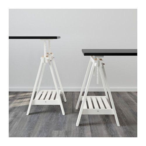 FINNVARD Tréteau avec étagère - blanc - IKEA