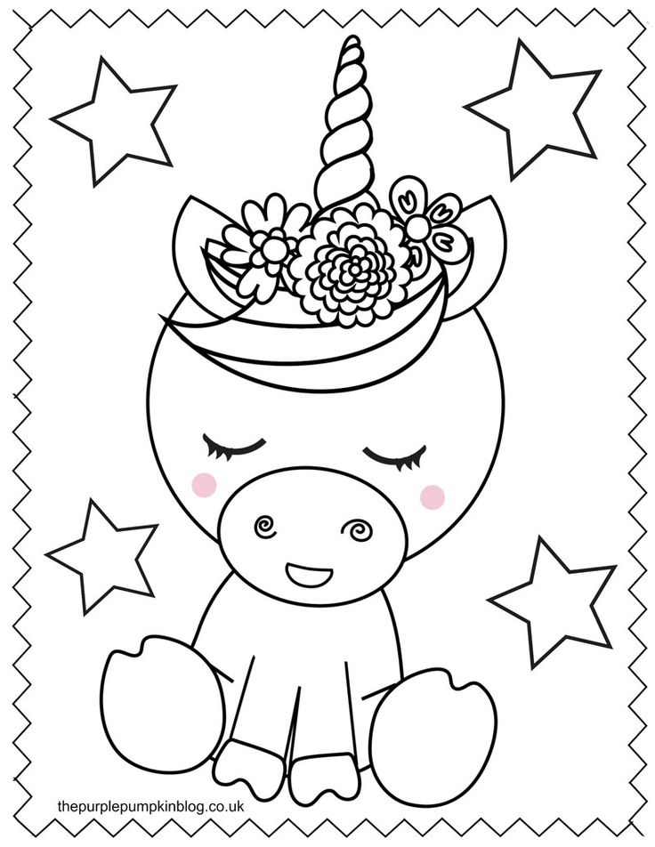 Super Sweet Unicorn Coloring Pages Free Printable