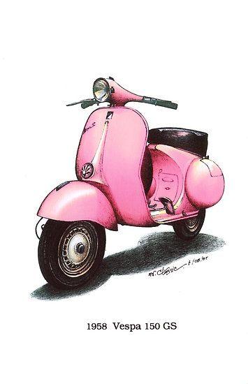 Pink 1958 Vespa 150 gs motorbike $3