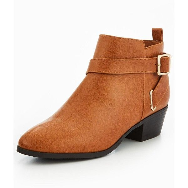 V By Very Jamie Strappy Ankle Boot Tan (925 MXN) ❤ liked on Polyvore featuring shoes, boots, ankle booties, strappy ankle boots, ankle bootie boots, ankle strap boots, tan ankle booties and ankle strap bootie