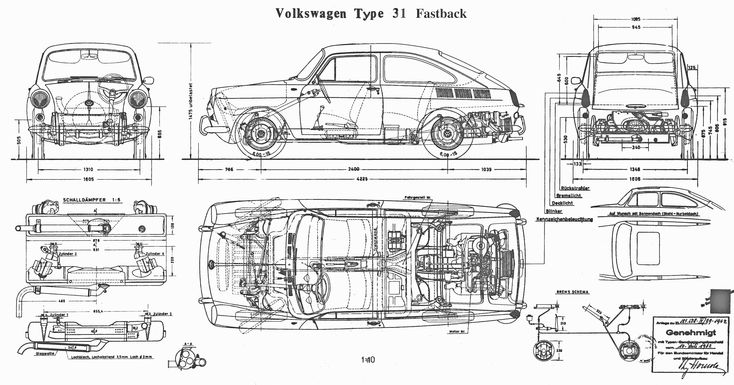 1962 vw type 31 fastback
