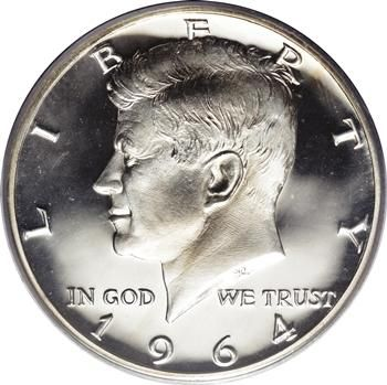 1964 Kennedy Half Dollar- I have this kept in a plastic coin cover. My uncle gave it to me the year I was born. (3/6/15)