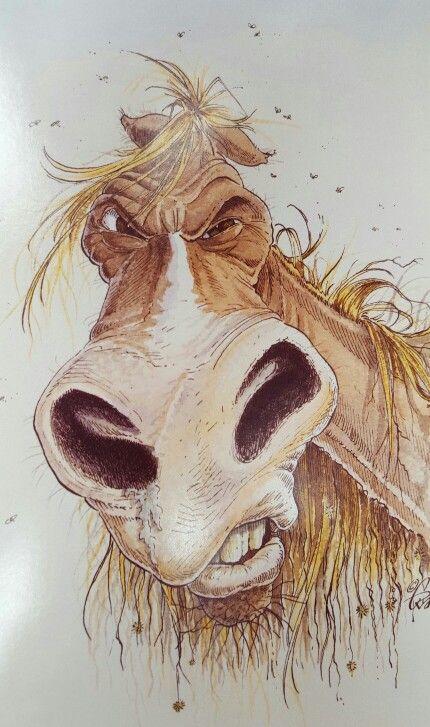 Смешной рисунок коня