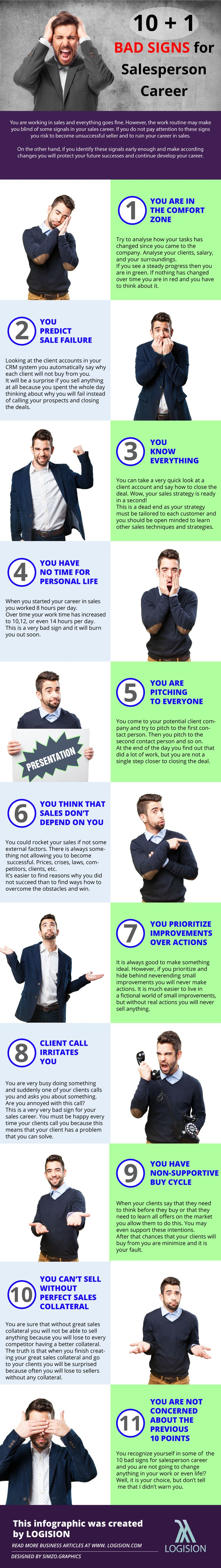 10+1 Bad Signs for Salesperson Career | Logision