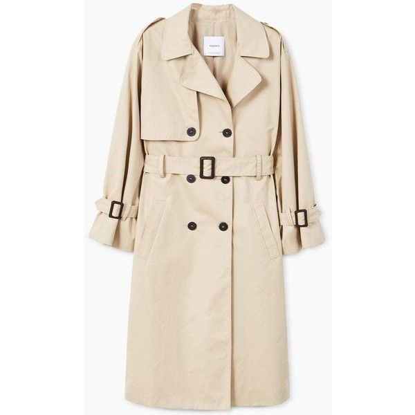 MANGO Double breasted trench (2 795 UAH) via Polyvore featuring outerwear, coats, cotton trench coat, double-breasted trench coat, pink coat, pink double breasted coat и cotton coat