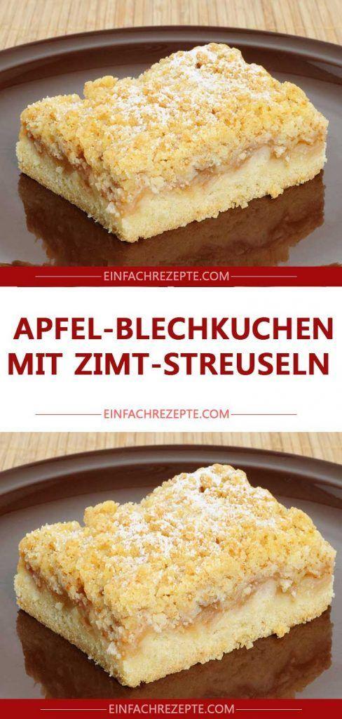 Apfel-Blechkuchen mit Zimt-Streuseln 😍 😍 …