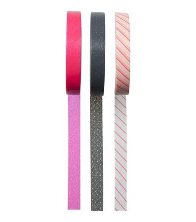 HEMA stationery - Set van 3 rollen washi tape.