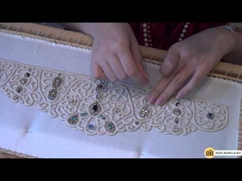 Две кички с вышивкой бисером - YouTube