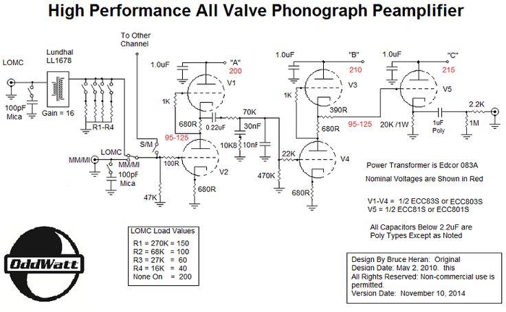 Updated Schematic - Groovewatt Tube (Valve) RIAA Phono Preamp