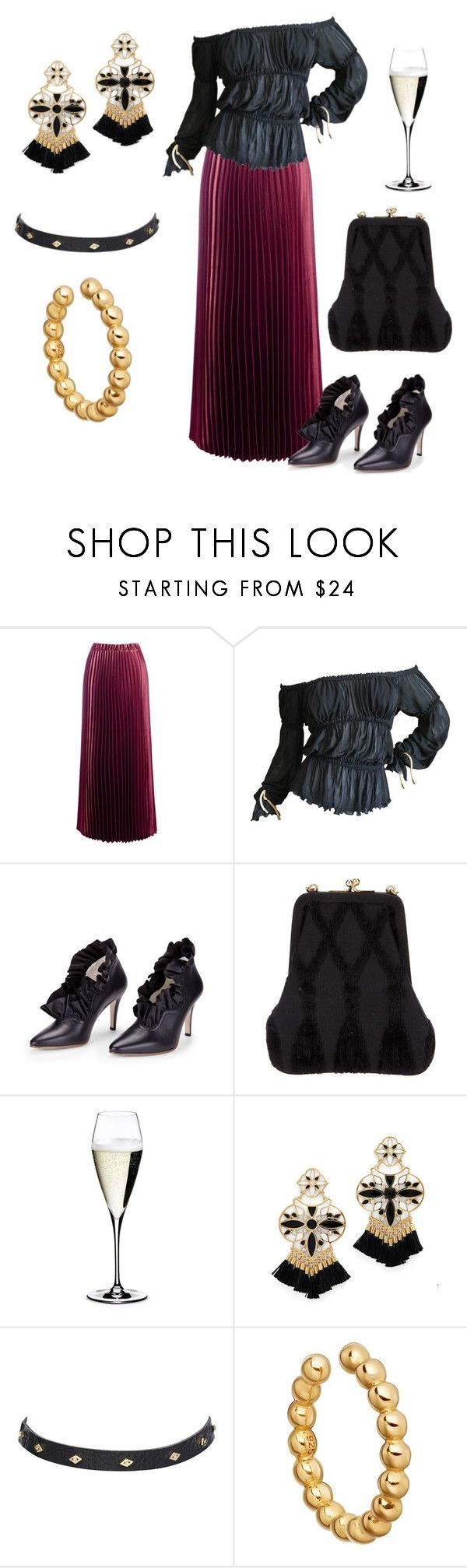 """""""dinner at eight"""" by billyblaze ❤ liked on Polyvore featuring Sans Souci, Tom Ford, Zoe Lee, Roberta Di Camerino, Riedel, Kate Spade and Astley Clarke"""