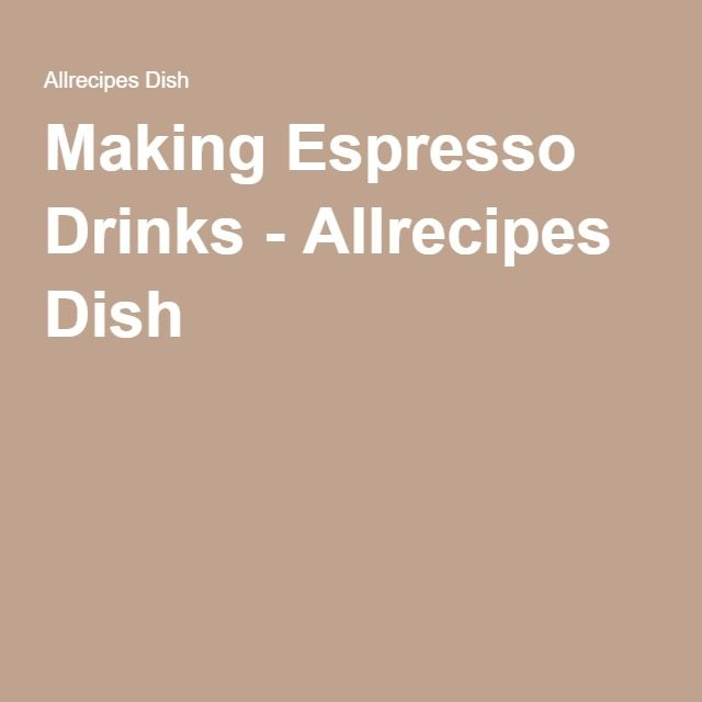 espresso recipes for espresso machine
