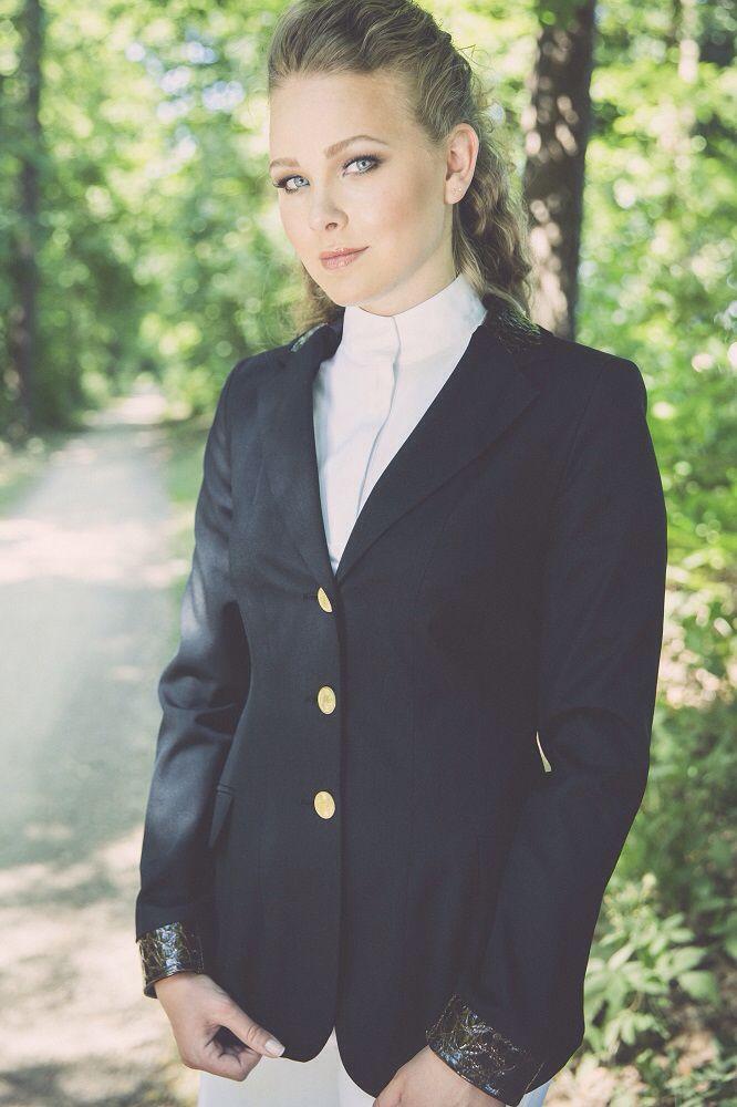 Limited Edition showjacket, showjumping, dressage, Elitz equestrian. Black-croco
