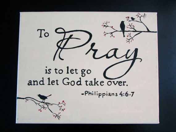 Canvas Painting  Let Go and Let God by SimplyUniquelife on Etsy, $12.00