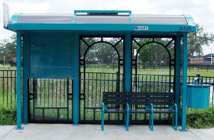 New HART Bus Shelter with Solar Panel for Lighting
