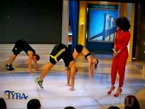 Shaun T. showed his INSANITY non-stop power moves on the Tyra Banks show! No equipment or weights needed. Just the will to get the hardest body you ever had! - http://60dayfitness.com