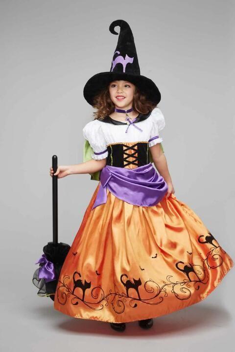 Vintage Witch Costume For Girls - alt1