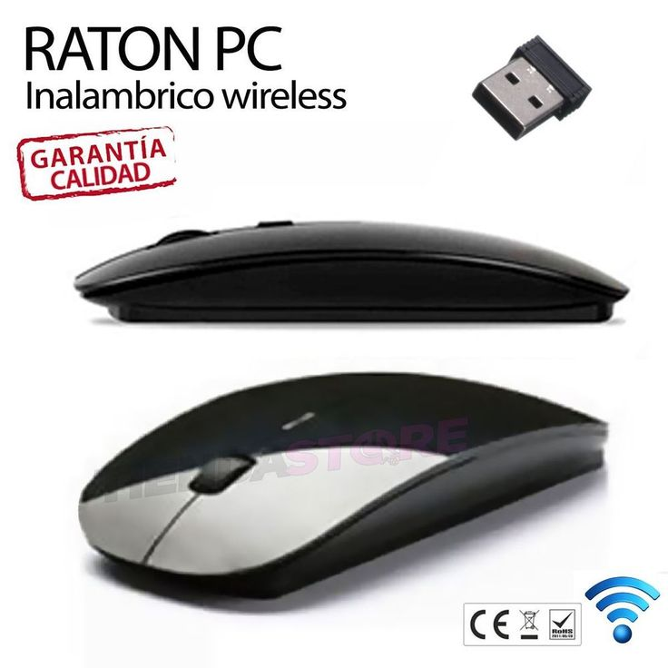 Raton-Mouse-Wireless-Inalambrico-2-4G-mac-plano-flat-Portatil-PC-Ordenador