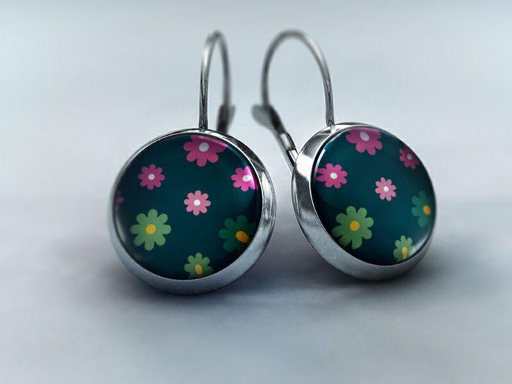 Ohrhänger - Blütenzauber in Blaugrün von Schmuckkauz auf DaWanda.com
