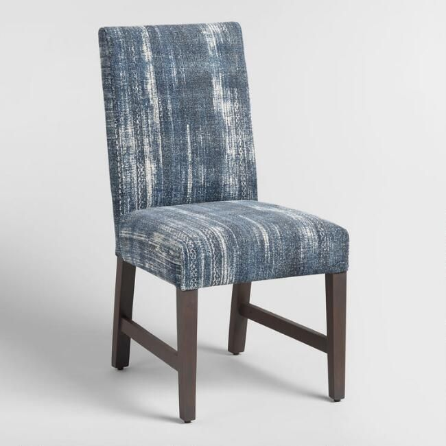 Featuring 100 37 Woven Cotton Upholstery Screen 45 Printed By Hand By Artisans I Dining Room Chairs Upholstered Blue Dining Chair Upholstered Dining Chairs