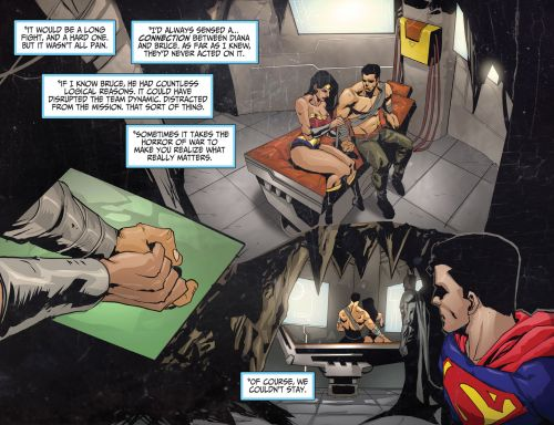 Justice League Beyond 2.0 #17 Among all the Bruce/Diana interactions, this has got to be my favorite. ♥‿♥