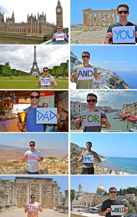 This is awesome! What a great way to thank your parents for a study abroad trip.