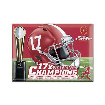 Alabama Crimson Tide 2017 National Champions 2.5 x 3.5 Fridge Magnet