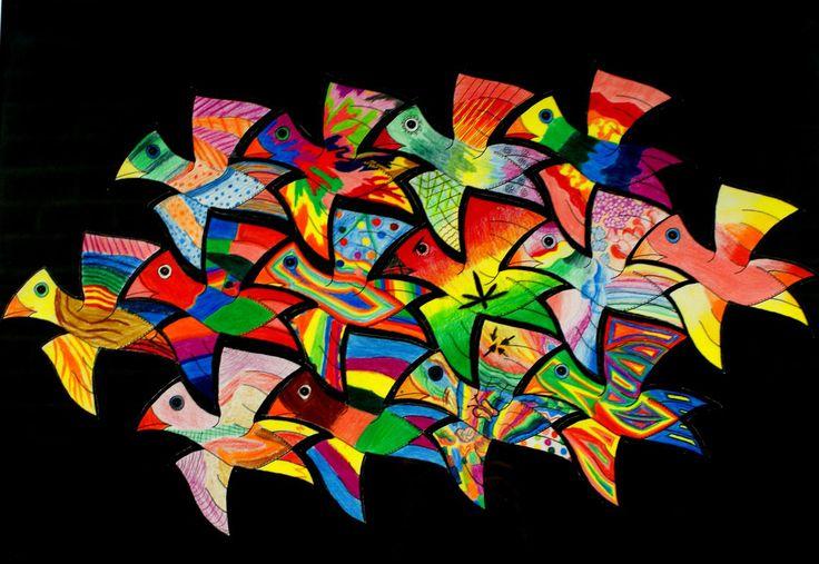 Groepsopdracht: in de stijl van M.C.Escher