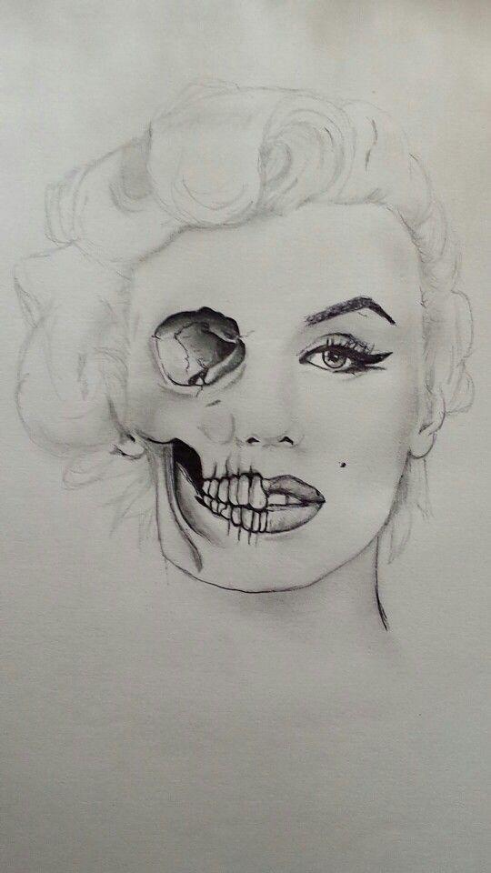 Marilyn Monroe Skull #skull #marilynmonroe #cflynnoriginal