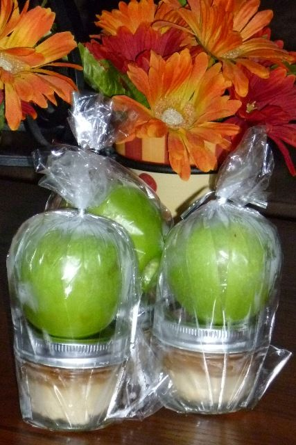 Apple with Caramel Cream Cheese Dip: I made these for a bake sale at my husbands office and everyone loved them.